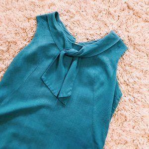 Vintage Dresses - Vintage Handmade Sailor Style Cotton/Linen Dress